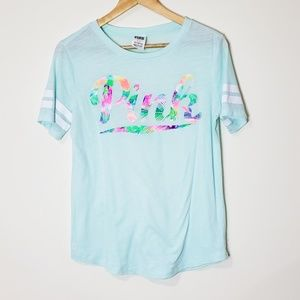 PINK Victoria's Secret Tropical Tee Size Small